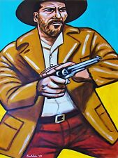 ELI WALLACH PRINT the good the bad and the ugly western movie cowboy hat pistol