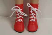 "Red LaceUp Short Boots Doll Shoes For 16"" Kish Four Season Dolls (Debs)"