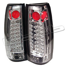 88-98 Chevy Suburban Tahoe LED Rear Tail Lights Lamp New Left+Right Set Chromed