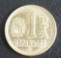1 Peseta Spagna World Cup 1982 - Juan Carlos I° -Non Circolata -  nr 770