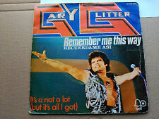 SINGLE GARY GLITTER - REMEMBER ME THIS WAY - BELL SPAIN 1974 G+/VG+