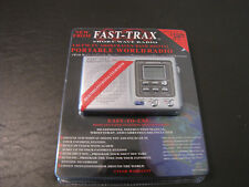 Fast - Trax Short Wave Radio - Headphones, Instruction Manual, Wrist Strap & Car
