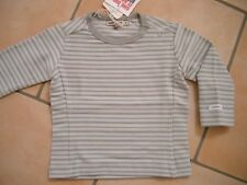 (x232) Camicia Imps & Elfs Unisex Baby manica lunga con logo ricamate gr.62
