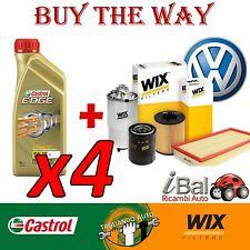 VW UP 1.0 BENZINA KIT TAGLIANDO FILTRI WIX + 4LT OLIO CASTROL EDGE 5W-30