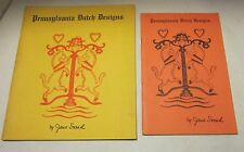 "Two books ""Pennsylvania Dutch Designs"" by Jane Snead 1954 & 1959 VGC"
