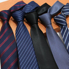 Lot 5 PCS Fashion Men's Neck Ties 7cm Neckie Striped Jacquard Woven Tie Wedding