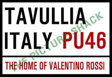 London Style Metal letrero de calle 12.7 X 17.8cm. Valentino Rossi dentro o fuera.