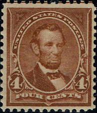 #280b 1898 4 CENT LINCOLN REGULAR ISSUE  MINT-OG/NH--VF/XF