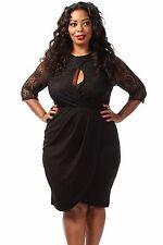 Abito ricamo Pizzo Taglie forti Grandi Curvy Formosa Plus Size Lace Dress XL