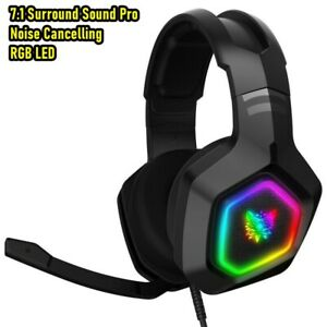 ONIKUMA K10 Stereo Bass Surround RGB Gaming Headset for PS4 Xbox One PC with Mic