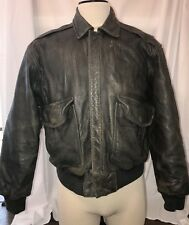 VINTAGE Mens GAP Brown Bomber Flight Aviator Leather Motorcycle Jacket S