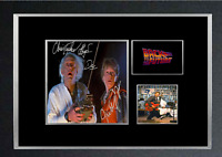 BACK TO THE FUTURE MOVIE AUTOGRAPHED MOUNTED PRINT