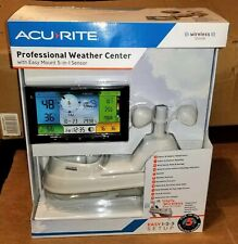 Acurite Pro 5-in-1 Color Weather Station with Wind Direction & Speed and Rain