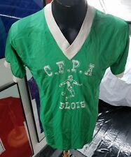 Maillot jersey maglia camiseta trikot shirt france porté worn 80s blois vintage