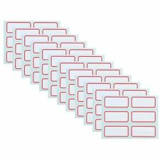 12 Sheets White Price Stickers Self Adhesive Labels Blank Name Number Tags Hot