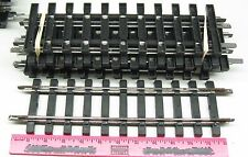 Bachmann ~ G scale / Large scale 7 straight  track  black and metal