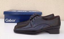 Chaussures de ville à lacets en cuir noir homme - GABOR - P. 40,5 / 7 - NEUVES