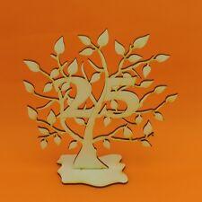 Jubiläumsbaum Silberhochzeit, 25, Holz 16cm Lebensbaum Geschenk Hochzeitstag