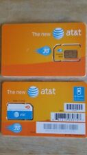 At&T Standard Size 3G Sim Card Sku#71247 Regular Sim Card For At&T Cell Phones