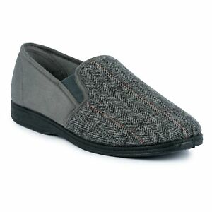 Goodyear Harrison Fleece Lined Tweed Slipper.