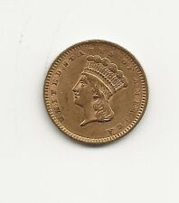 1856 $1 Indian Head Gold coin, XF