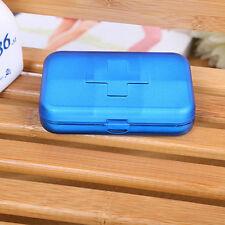 Mini Plastic Pill Box Case Bottle Holder Keychain New Travel