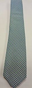 NEW WITH TAGS MEN'S BANANA REPUBLIC NECKTIE TIE, ONE SIZE, MIDNIGHT GINGHAM