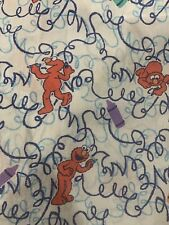 SESAME STREET TWIN FITTED SHEET Coloring Crayon ELMO VINTAGE Yr 2000