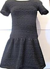 NEW 'Freshman 1996' Junior Size M Textured W RUffled Bottom Knit Sweater Dress