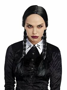Dreamgirl Double Braided Friday Adams Adult Womens Halloween Costume Wig 10814