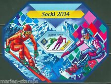 SOLOMON ISLANDS 2014 SOCHI WINTER OLYMPICS SKATING & SKIING S/S MINT  NH