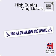 Disabled Sign Disability Mobility Visible Car Parking STICKER / VINYL DECAL