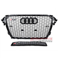 Honeycomb Sport Mesh Front Grill Grille For Audi A4 S4 B8.5 RS4 2013 2014 2015