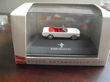 Busch HO 1/87 White 1964 Ford Mustang 47502 NIP