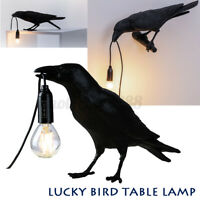 Raven Resin Lamp Light Black White Novelty Style Bird Crow Wall lamp Decoration