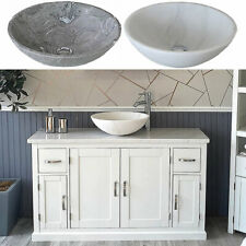 Bathroom Single Vanity Off White Painted Cabinet White Marble Marble Basin 402P