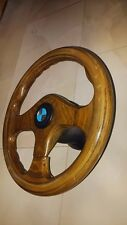 BMW  Wood Steering Wheel Vintage 320 mm with Steering Wheel Hub Adapter for bmw
