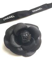 CHANEL Leather Camellia Brooch Employee Uniform