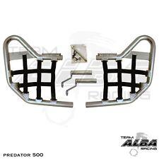 Predator 500 Polaris   Nerf Bars   Alba Racing Pro Elite  Silver Black 208 T1 SB