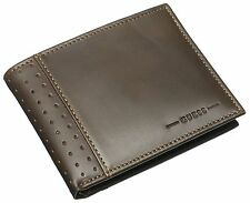 NEW GUESS BROWN BILLFOLD LEATHER PASSCASE ID CREDIT CARD CASE RODEO MEN'S WALLET