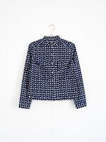 HOF115:COS Bluse hemd muster boxy / Round collar printed shirt cotton 32 US 2