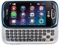 LG VN280 Extravert 2 - Black/Blue (Verizon) Touch Screen Phone