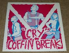"COFFIN BREAK / VICTIMS' FAMILY SPLIT 7"" 45RPM ROCK PUNK INDIE YELLOW WAX RAVE"