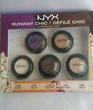 "NYX Cosmetics 2014 Limited - Runway Chic 5pcs Single EYE Shadows SET ""HSSET01"""