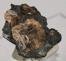 Wulfenite Crystals on Matrix, Tsumeb Mine, Namibia