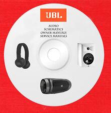 JBL Audio Repair Service owner manuals on 1 dvd in pdf format