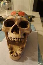 2003 Somewhat smashed Floral Tribal Adams Apple Skull