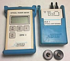 Noyes OPM4 Optical Power Meter & OLS 1 Multimode Source Kit w/ adapters.