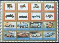 Ajman -.Old autocars 16 st.in M/Sh,Cardboard papers-Imperf- MNH, AJ 039a