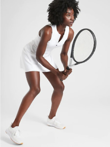 ATHLETA  Match Point Dress S Petite SP  White NWT Supersonic #486471 Tennis